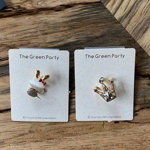 Set of 2 Pins/ Bunny and Crown